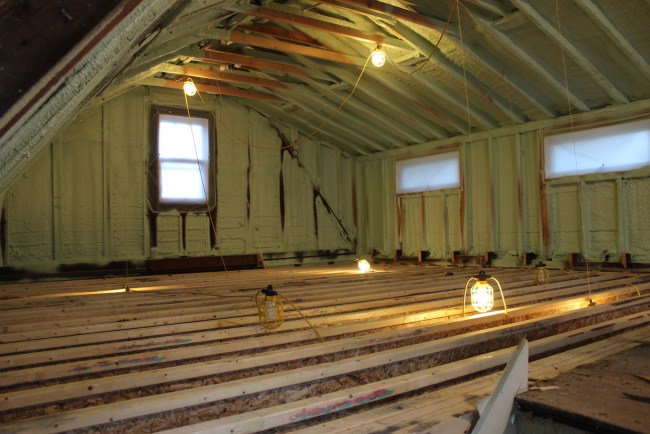 back rooms with new joists
