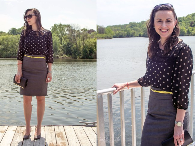 Side by side pencil skirt