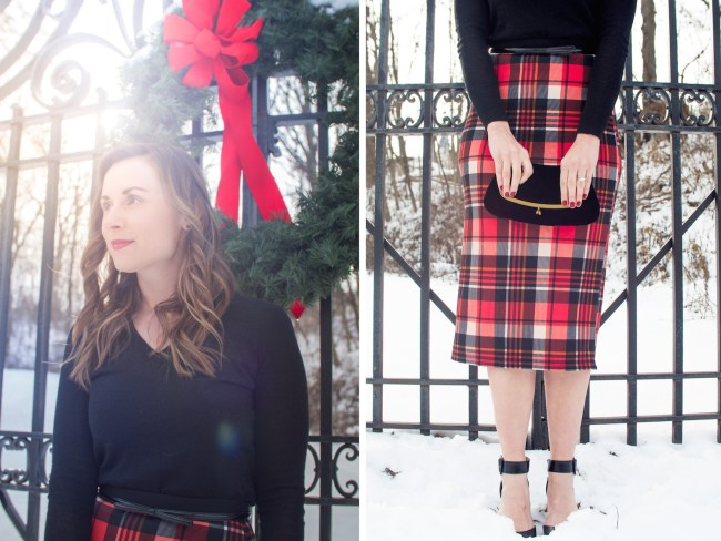 Plaid skirt close ups