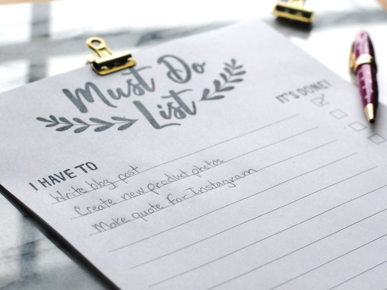 Free printable to do list by Honestly Nat #todolist #freeprintable