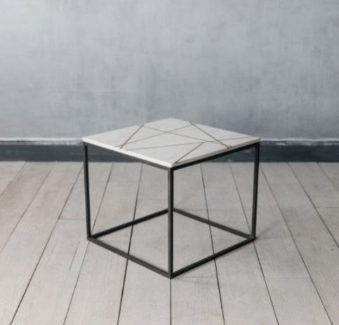 Gold inlaid marble table
