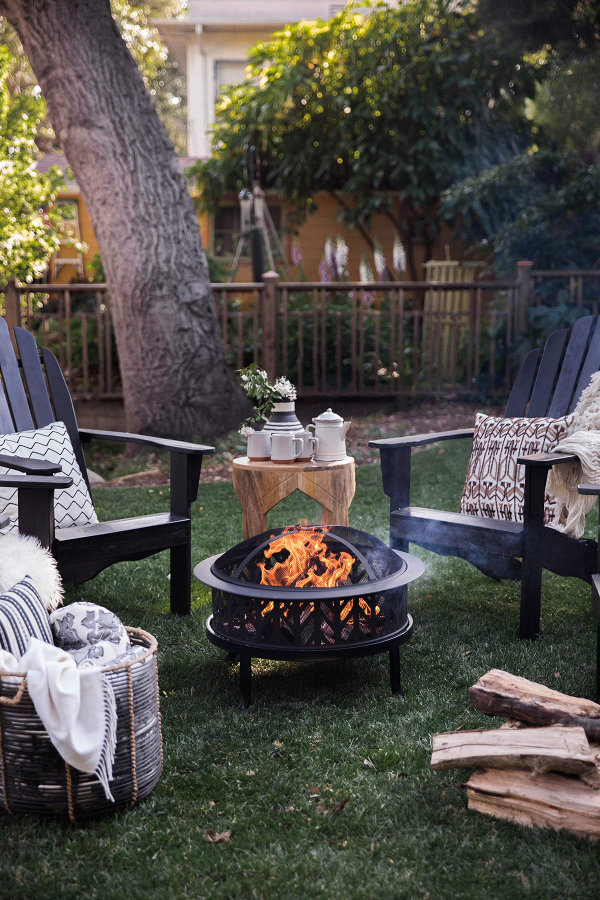 fire pit and adirondack chairs double hanging egg chair australia keeping it low key  honestly wtf