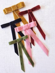 diy velvet ribbon bow barrette