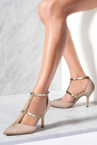 T Bar Caged Pointed Shoes