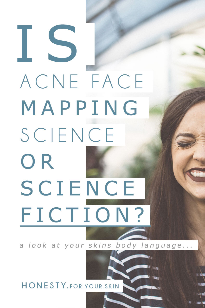 Acne Face Mapping Does It Work Honesty For Your Skin - Face map for acne