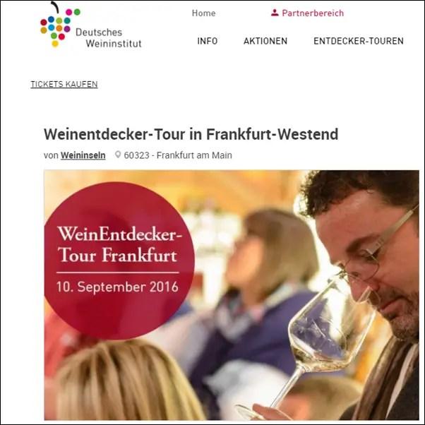 WeinEntdecker 2016 -Tour in Frankfurt