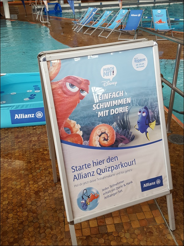 Disney Schwimm-Spaß-Tour in Frankfurt 2016
