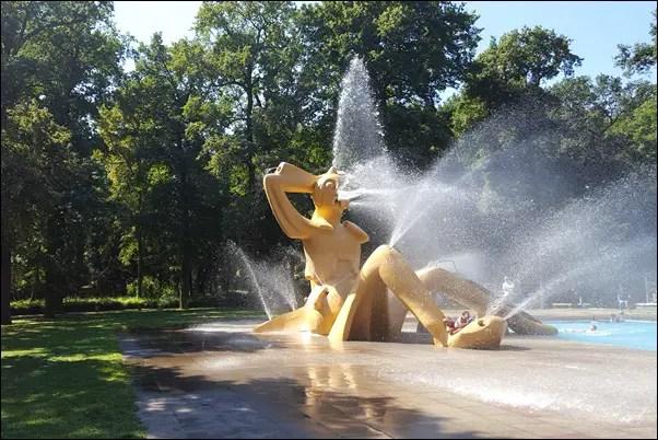Frankfurt Schwanheim Wasserspielplatz