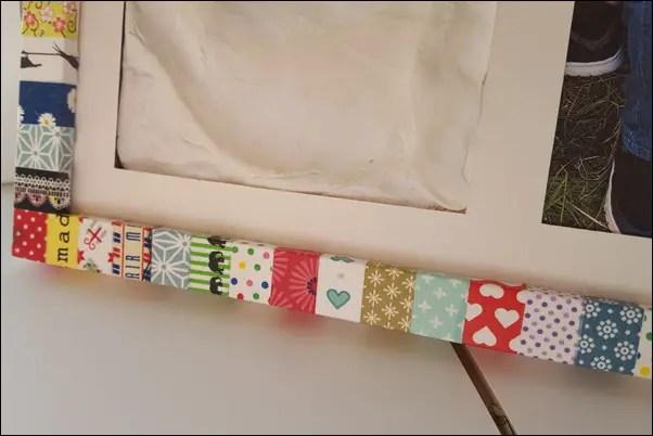 Ideen mit Washi Tape - Bilderrahmen bekleben mit Washi Tape
