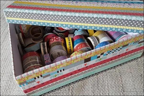 Ideen mit Washi Tape - Boxen bekleben mit Washi Tape