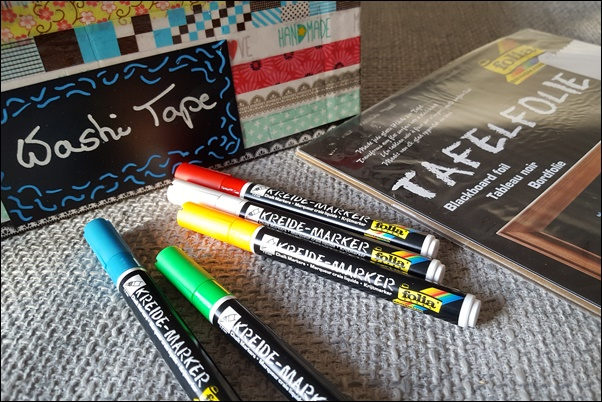 Ideen mit Washi Tape - Tafelfolie und Washi Tape