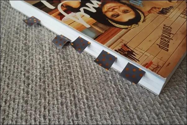 feste Lesezeichen aus Washi Tape