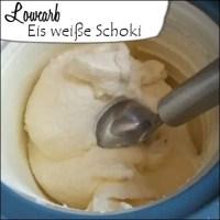 Lowcarb Eis weiße Schokolade