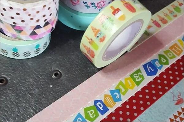 Ordner bekleben mit Washi Tape - Ideen mit Washi Tape