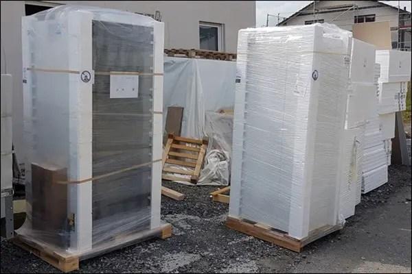 Heizung wird gestellt - Neubau in Niddatal Bönstadt