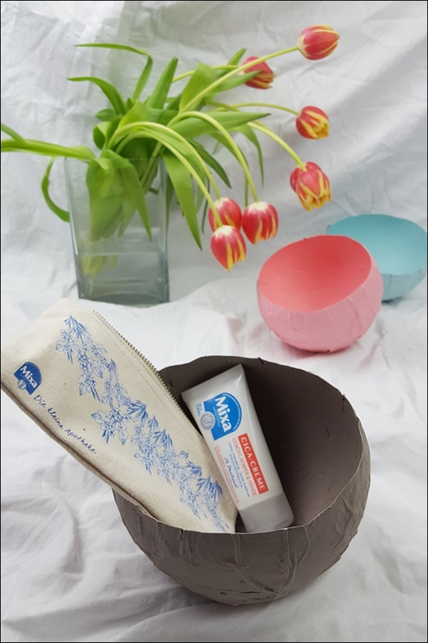 DIY Schalen zum Muttertag mit Mixa Cica Creme