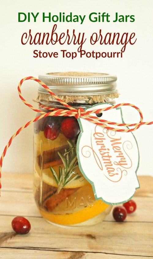 Cranberry Orange Stove Top Potpourri gift jars