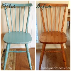 Pine Kitchen Chairs Bistro Chair Covers For Sale Makeover Of A Using Chalk Paint  Honey