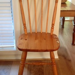 Pine Kitchen Chairs Directors Chair Covers Gold Coast Makeover Of A Using Chalk Paint  Honey