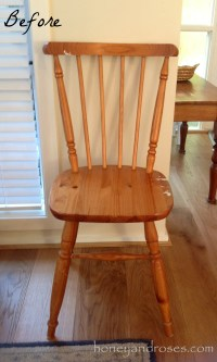 Makeover of a Pine Kitchen Chair using Chalk Paint  HONEY ...