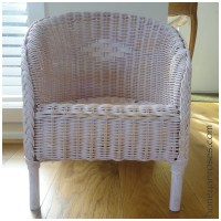 How to Paint a Wicker Chair with Chalk Paint  HONEY & ROSES