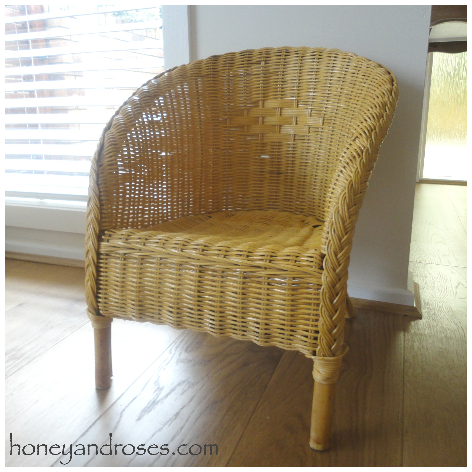 How to Paint a Wicker Chair with Chalk Paint  HONEY  ROSES