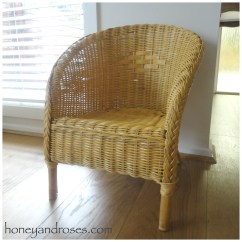 Rattan Or Wicker Chairs Tyke Hike Chair How To Paint A With Chalk  Honey And Roses
