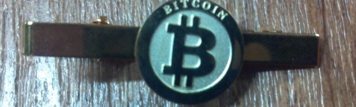 Large Bitcoin Lapel Pin - Honey Badger of Money