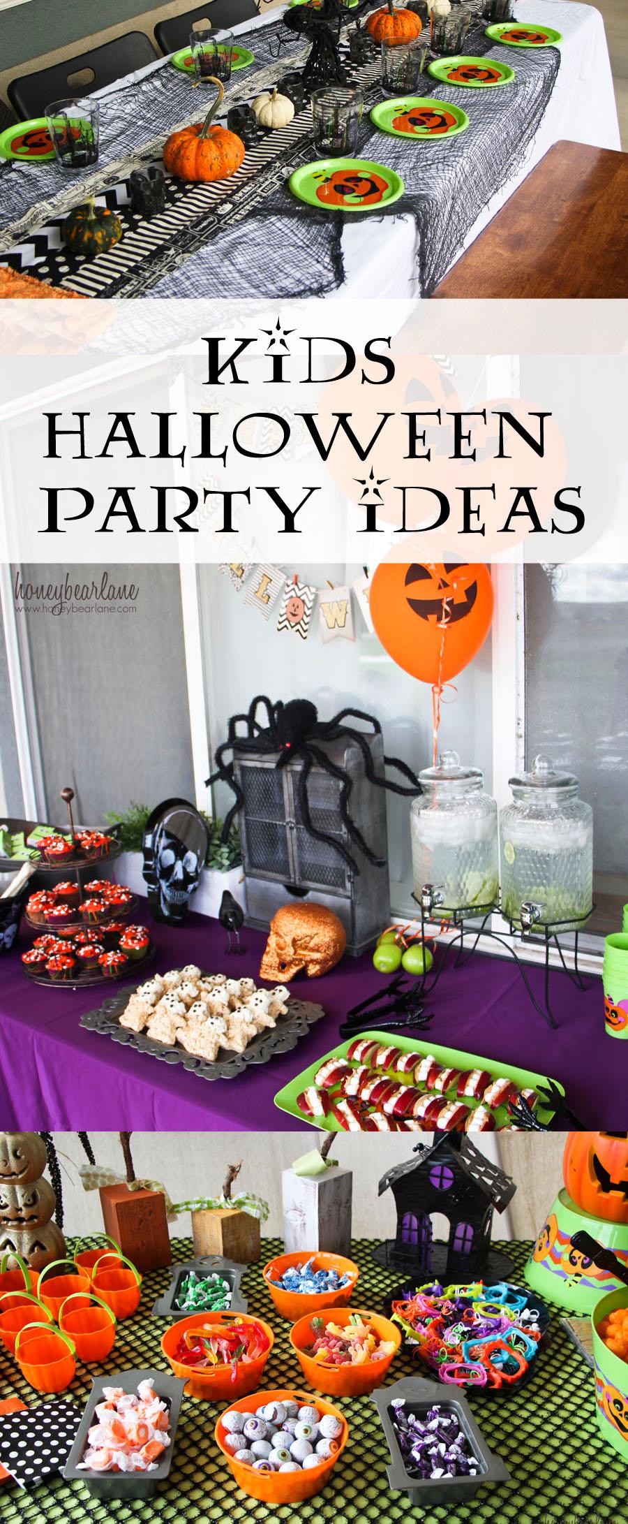 Kids Halloween Party Ideas  Honeybear Lane