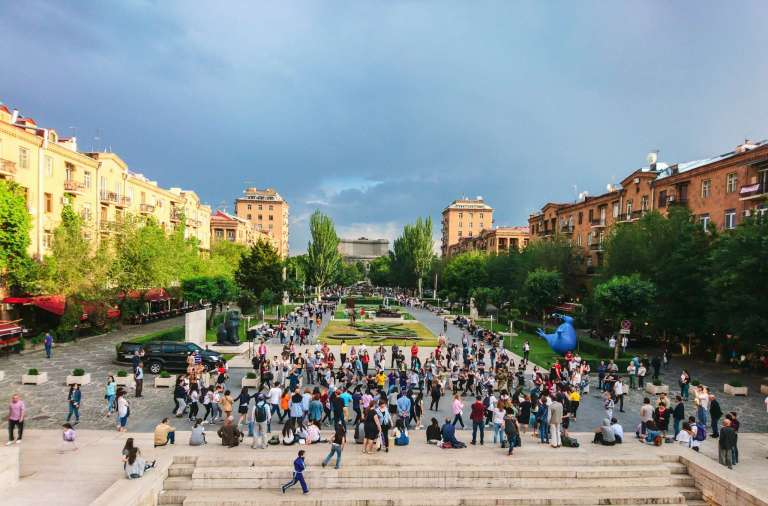 Traditional-dancing-Cascade-Yerevan-Armenia