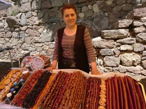 Local vendor of traditional Armenian sweets.
