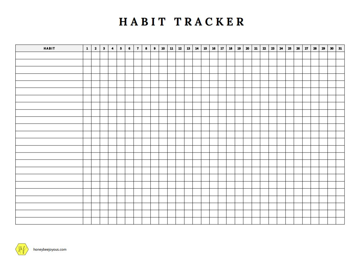 How To Create A Habit Tracker To Achieve Your Goals Free Template