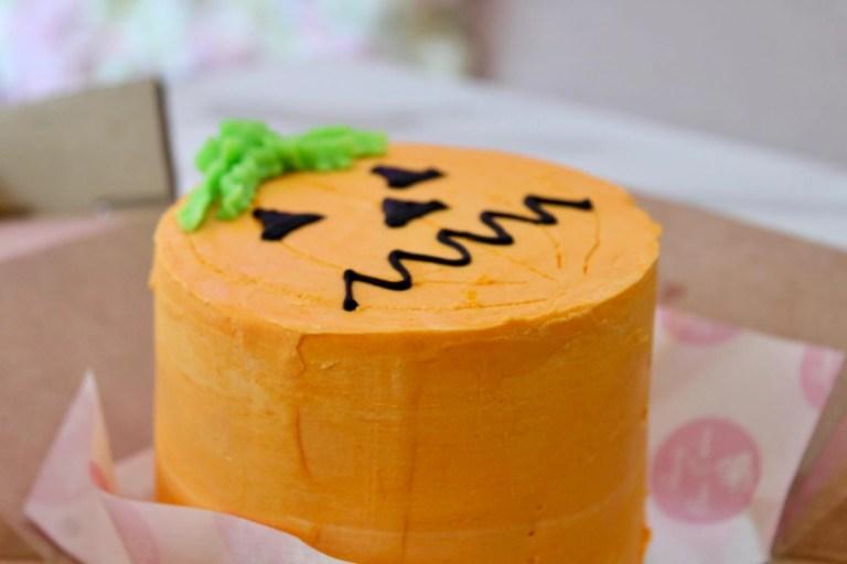 Orange Pumpkin Halloween Cake