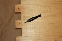 2. Use a countersink on your drill.