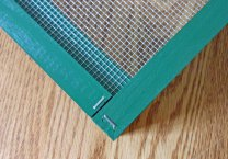 This photo shows a completed bottom corner.