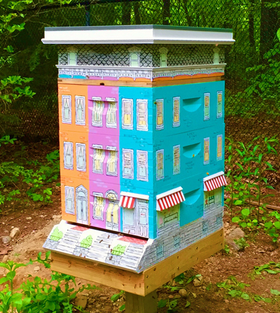 Row home for bees.