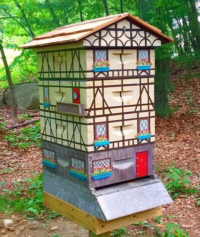 Tudor-style bee hive.
