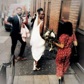 Honeyblossom bride Sulola wedding day - bridal shop review