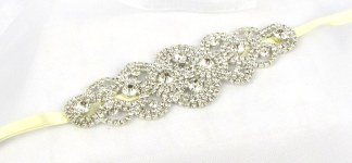 Handmade crystal bridal belt - Persephone