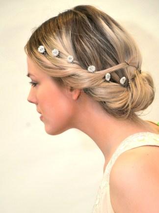 Handmade Swarovski bridal hair pins - Oriana
