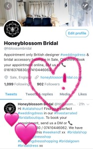 Honeyblossom Bridal Twitter followers