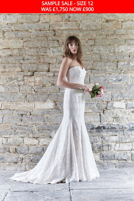 So Sassi Nadine lace wedding dress sample sale