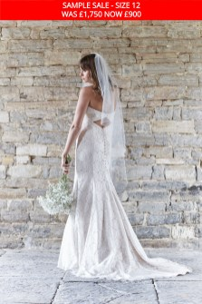 So Sassi Nadine lace wedding gown sample sale