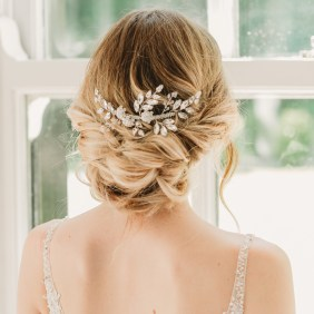 Handmade crystal bridal hair slide - Gabriella