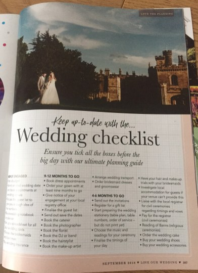 ove Our Wedding magazine wedding countdown