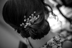Bridesmaids Swarovski hair pins from Honeyblossom Bridal