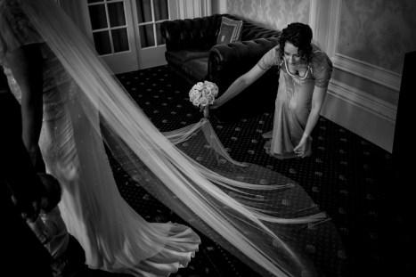 Real bride Lisa veil