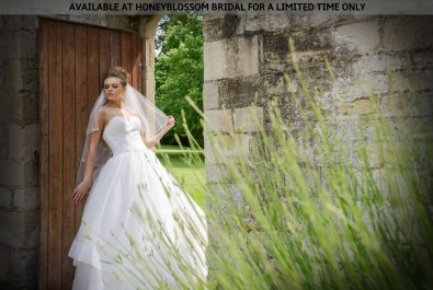 Catherine Parry Nicole bridal gown - Available at Honeyblossom Bridal for a limited time only