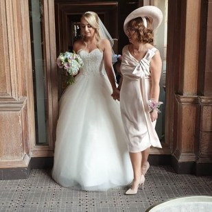Honeyblossom bride Michelle on her wedding day