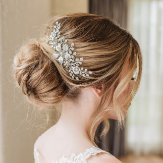 Floral bridal hair comb - Harmonia